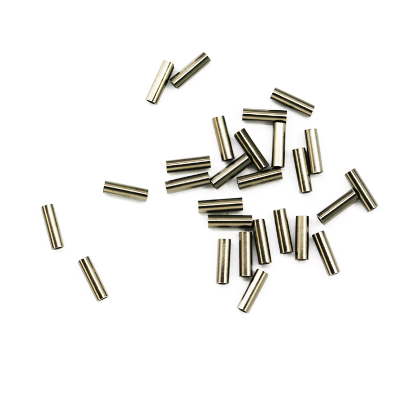 100pcs Round Copper Fishing Tube Fishing Wire Pipe Crimp Sleeves Connector Fishing Line Accessories Tool