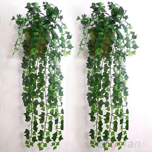 Plastik Kain Sutra Buatan Ivy Leaf Garland Tanaman Vine Palsu Bunga  Dekorasi Rumah Tanaman b148b2dfdc