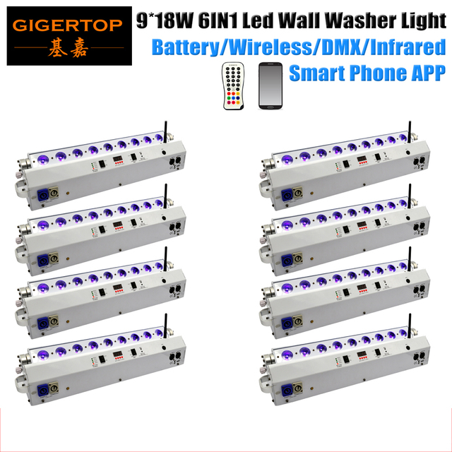 Freeshipping 8 pack 9x18w mobile control rgbwa uv leds wall wash bar freeshipping 8 pack 9x18w mobile control rgbwa uv leds wall wash bar wedding stage background decoration junglespirit Choice Image