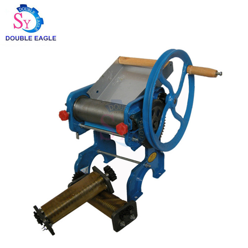 150-4 High Quality Blue Manual Pasta Maker Machine,noodle Cutting Machine Hand Noodle Making Machine With Two Blade