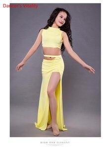 Image 5 - เด็กใหม่ Belly Dance เครื่องแต่งกายเด็กขายร้อนเต้นรำแสดงเสื้อผ้าฤดูร้อน Modal กระโปรงแยกชุดฟรีจัดส่ง