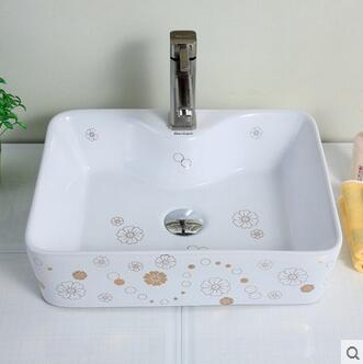 Защищающая раковина раковины на сцене керамическая lavabo квадратная пластина креативная декоративная раковина в виде миски для мытья рук