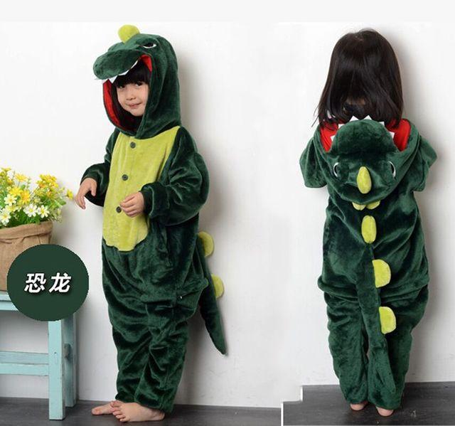 f6a5d8904 Oso Patas Pijamas Pokemon Pijama Dinosaurio Niños Onesie Animal Party  Cosplay Franela ropa de Noche Caliente