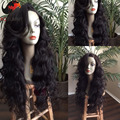 Hotselling onda del cuerpo peluca de cabello humano peruano peluca llena del cordón humano ondulado 150 densidad Glueless pelucas delanteras del cordón rayita Natural