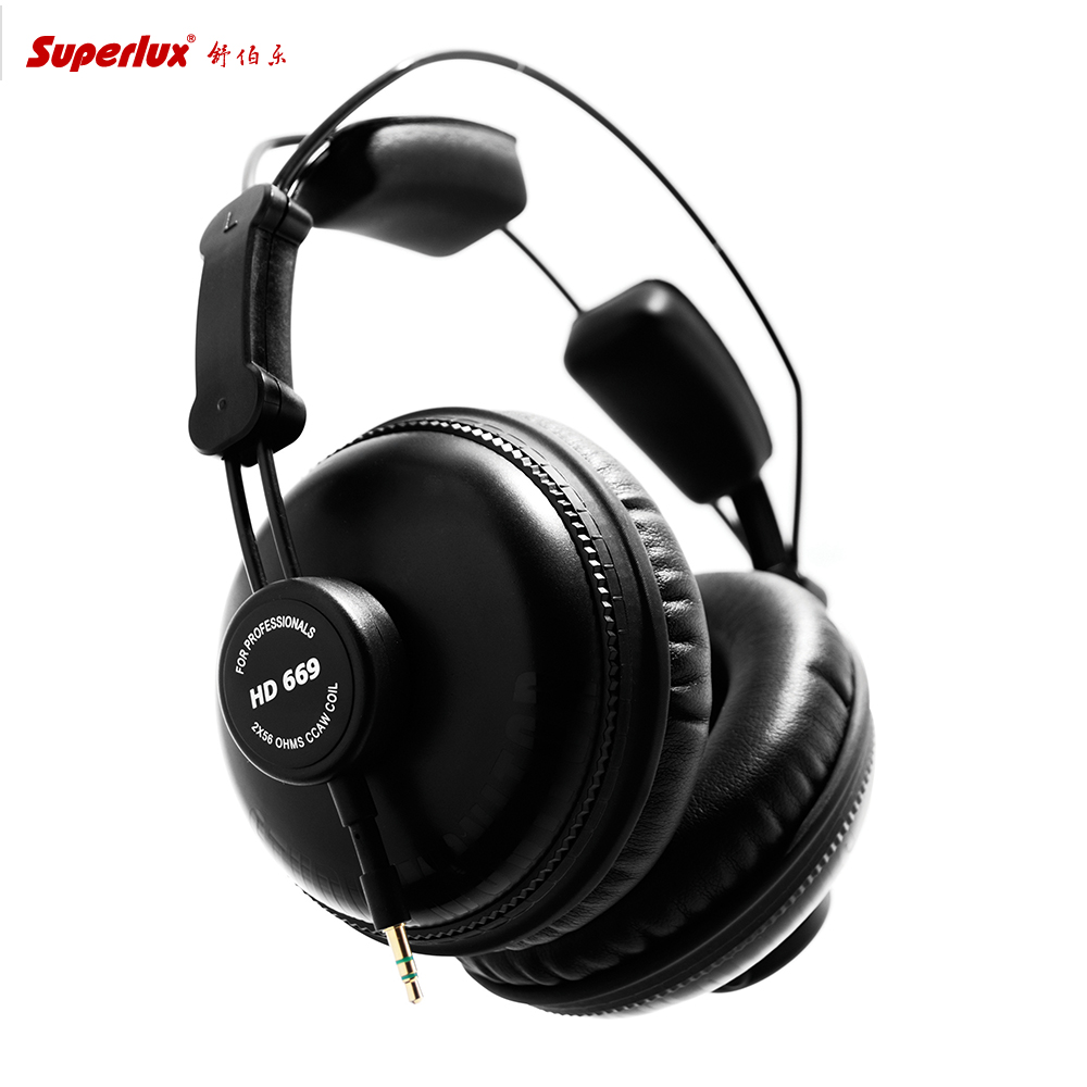 Superlux HD669 Monitor High fidelity Headphone Noise cancelling professional Fully close beatsstudios gaming Headset stereo image