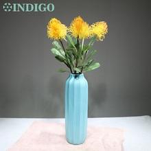 INDIGO- 5pcs Yellow Leucospermum Cordifolium Hydrangea Nutans Flower Wedding Event Party Table Free Shipping