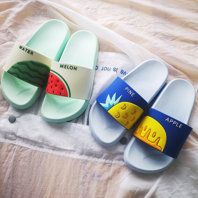 Women Summer Slippers Cute Fruits Watermelon Strawberry Soft Sole Beach Slides Indoor & Outdoor Slippers Sandals Women Shoes 3
