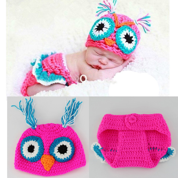 2015 New Crochet Baby Costume Set Knit Baby Girl Hat + Diaper Outfit Newborn Photogryphy Props  sc 1 st  AliExpress.com & 2015 New Crochet Baby Costume Set Knit Baby Girl Hat + Diaper Outfit ...