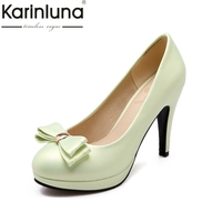 Karinluna New Large Size 31 43 Spring Spike High Heels Candy Colors Women Shoes Woman Pumps