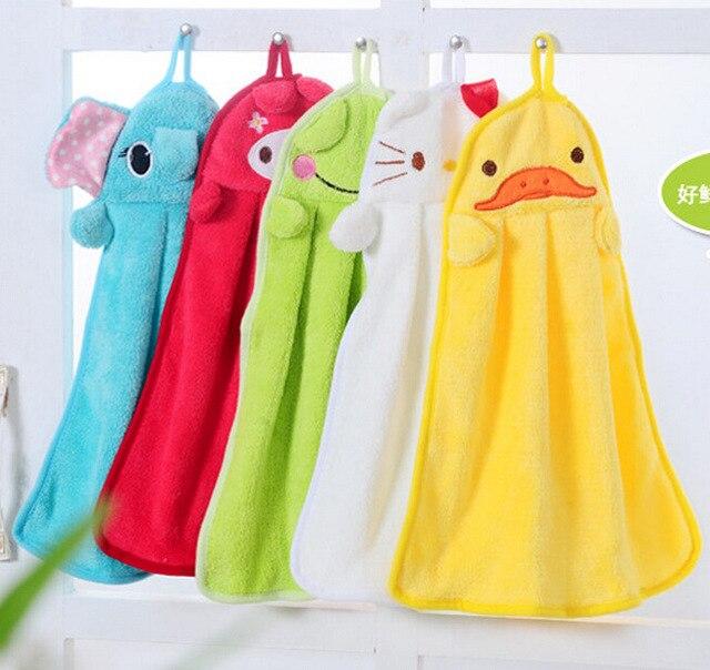 Catoon Microfiber Hand Towel Velvet Fabric Baby Kids Towels Small Toalla Redonda Toalhas De Banho