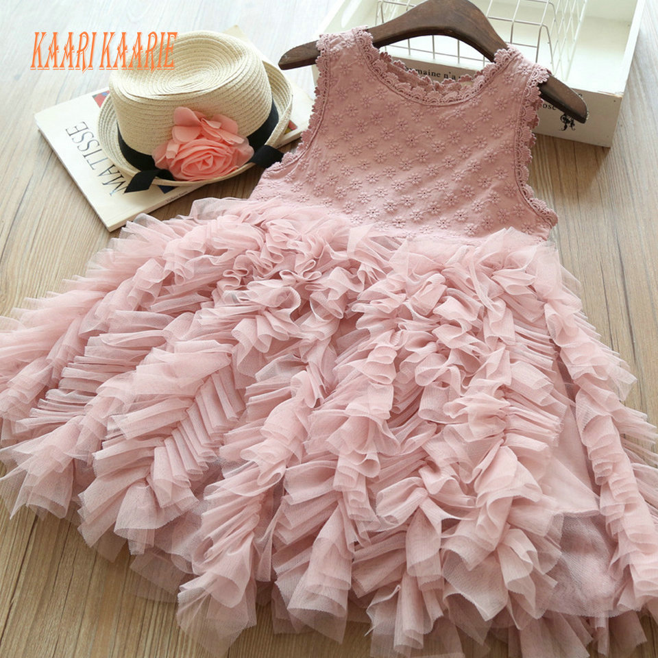 Hot Sale Cheap   Flower     Girl     Dresses   2019 Lovely Little   Girls   First Communion   Dress   Pageant Gowns Scoop Tulle Knee-Length Lace New