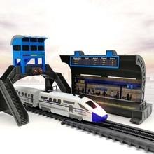 Technic Battery Powered Classic legoing City Train Rail Building Blocks Bricks Gift Toys For Children Boys Girls