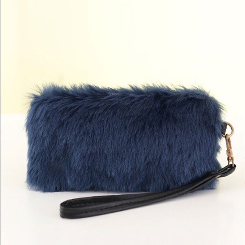 643f7789e7df Fashion Handbag Faux Fur Clutch Bag Long Purse Wallet Bag Women Plush HandBags  Tote Popular FA B Women bag