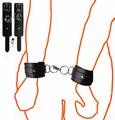 Искусственной кожи секс наручники шея-наручные ограничения игрушки для взрослых игры рабыня фетиш сексуальные костюмы наручники для эротического пары женщины мужчины