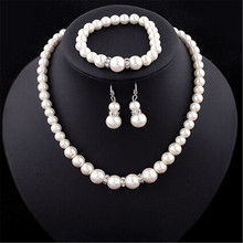 Ahmed Jewelry Sale 2017 New Fashion Jewelry Set Imitation Pearl Necklaces Necklace Bracelet and Earrings 1