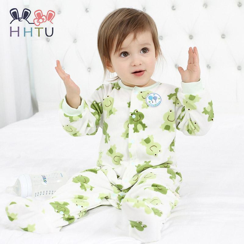 HHTU Baby Rompers Clothes Long Sleeved Coveralls for Newborns Boy Girl Soft Fleece Baby Jumpsuits Clothing for Autumn/Winter