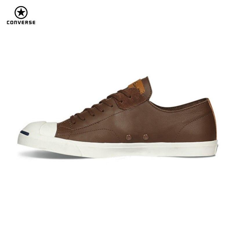 Converse новый оригинальный JACK PURCELL кроссовки весна лето мужчины и женщины из искусственной кожи черный цвет Скейтбординг обувь 154144C