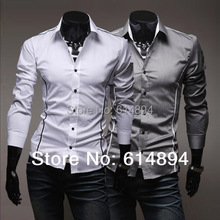 Summer Style 2016 New Arrival Personality Shirt Men Fashion Casual Slim Fit Long-Sleeved Shirts High Quality Camisa