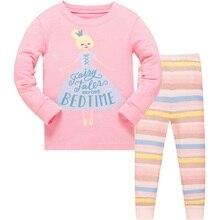 Купить с кэшбэком 3-8 years kids cotton christmas pajamas boy girl family long sleeve pijama sets children 2pcs sleep set