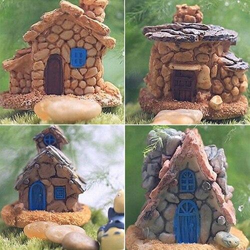 Mini Stone House Decoration Fairy Garden Miniature Craft Micro Landscape  Decors
