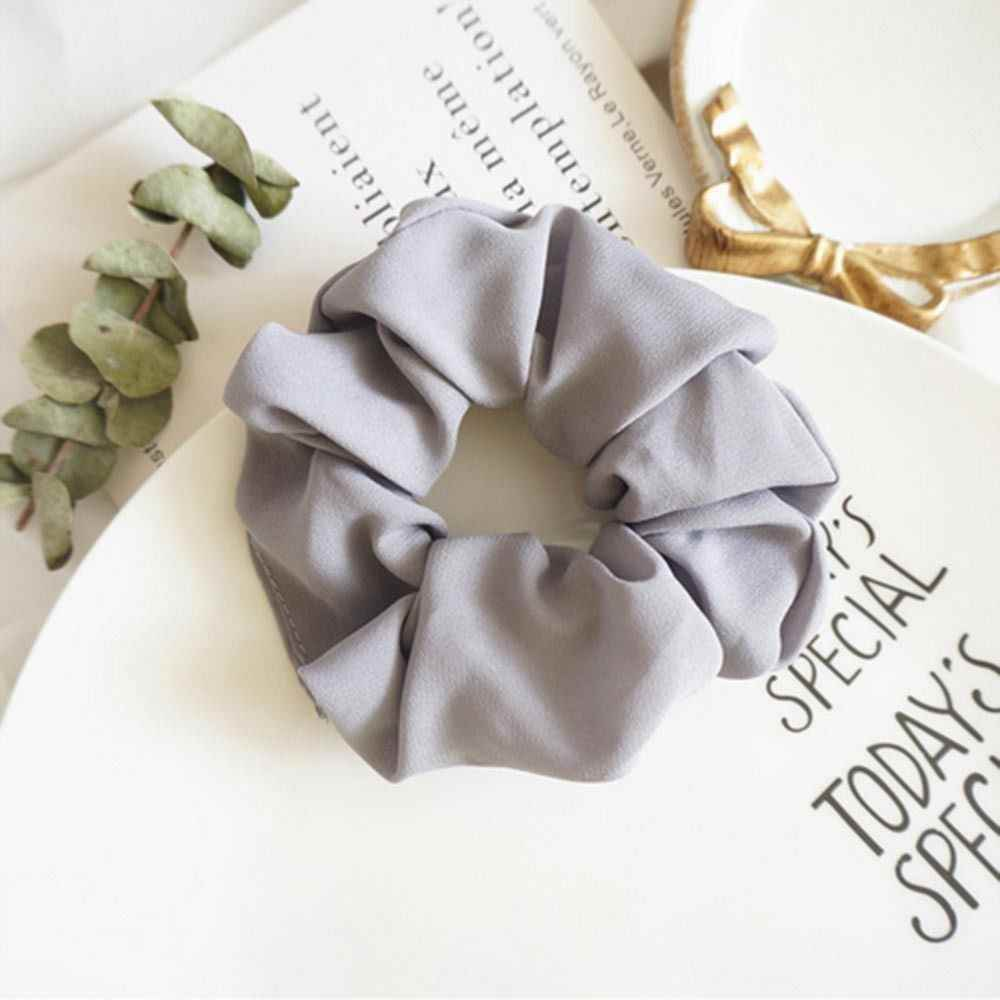 1pc 6 Color Trendy Hair Scrunchie Ring Elastic Bobble Sports Dance Scrunchie Hair Styling Tools Hair Accessories