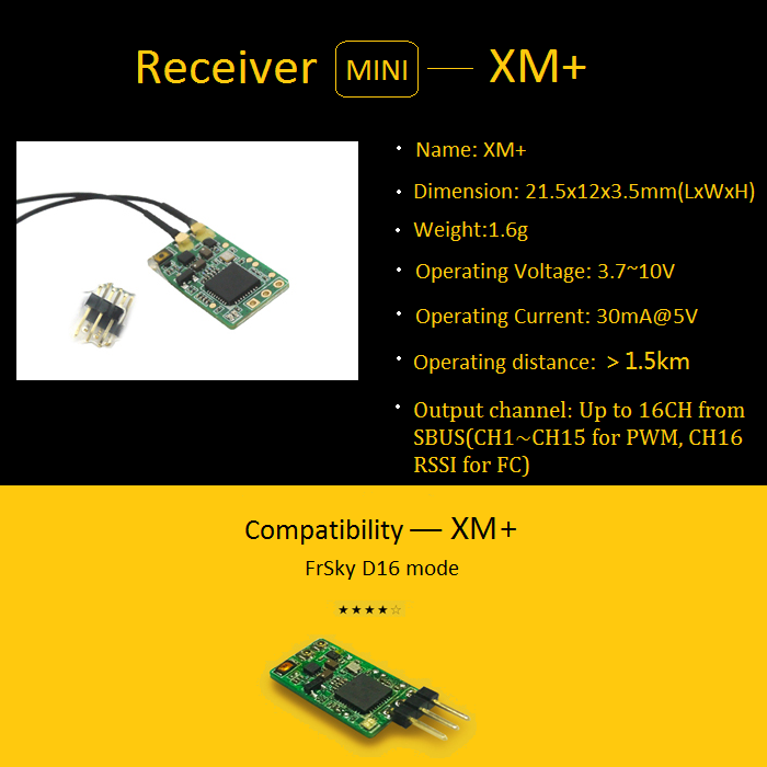 FLYSKY FS -A8S 2 4G PPM PWM IBUS Receiver FrSky XM+ SBUS Mini Receiver FT4X  FASST MINI S BUS Receiver for FPV Racer