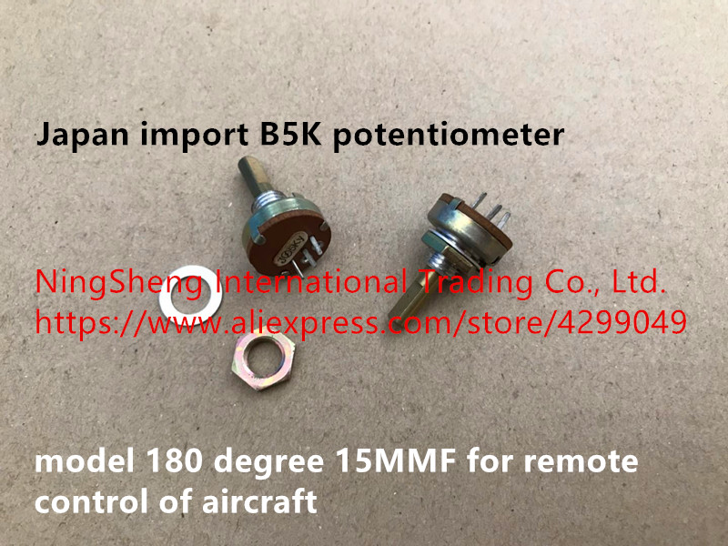 Original new 100% Japan import B5K potentiometer model 180 degree 15MMF for remote control of aircraft (SWITCH)Original new 100% Japan import B5K potentiometer model 180 degree 15MMF for remote control of aircraft (SWITCH)