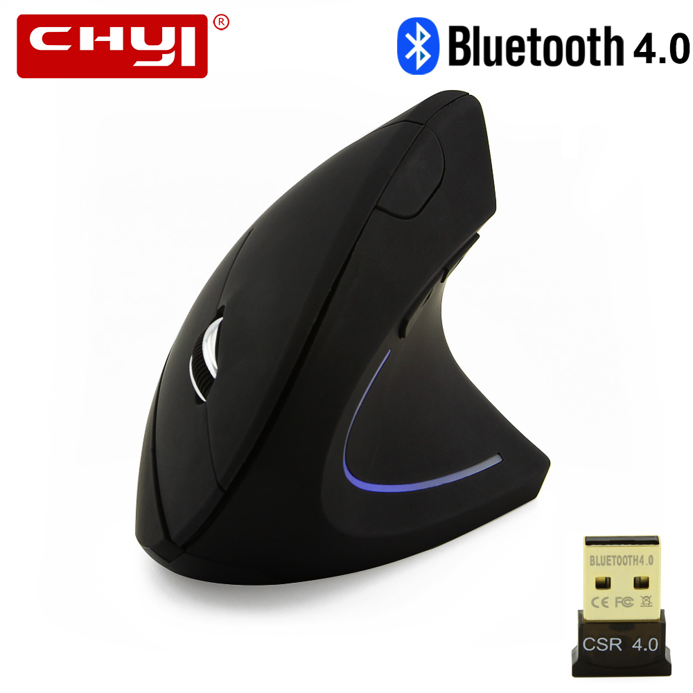 CHYI Wireless Bluetooth Maus Ergonomische 800/1200/1600 dpi Bunte Backlit Optic Vertikale Mäuse Mit BT CSR 4,0 adapter Kit Für PC