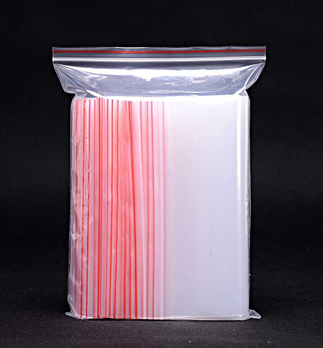 100pcs/pack 10 sizes Small Clear Bag Resealable Plastic Bags Zip Lock Plastic Packaging Bags Jewelry Pouch