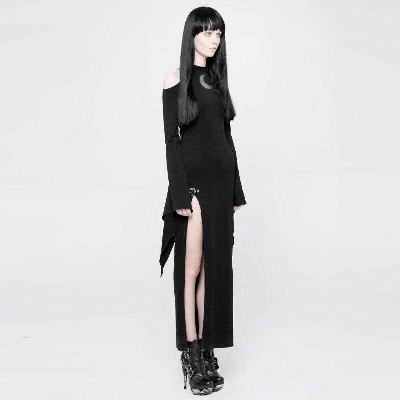 Stop118 Gotik Siyah Elbise