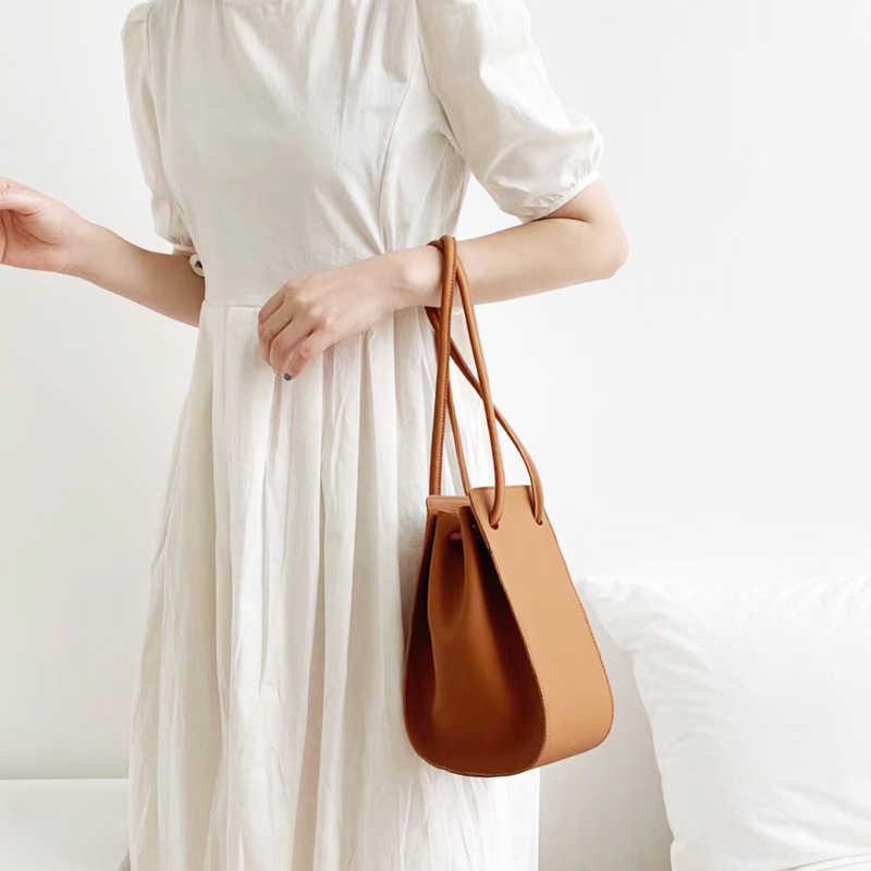 Новинка 2019, маленькие женские Сумки из искусственной кожи, женская сумка через плечо, модная сумка-ведро, шикарная Сумочка для пышек, распродажа