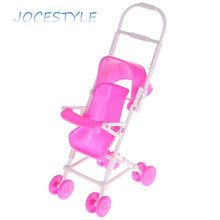 Pink Romantic Baby Stroller Infant Carriage Trolley Nursery Toy For Baby Doll Accessory Pretend Game Girls Toy Gift for Girls(China)