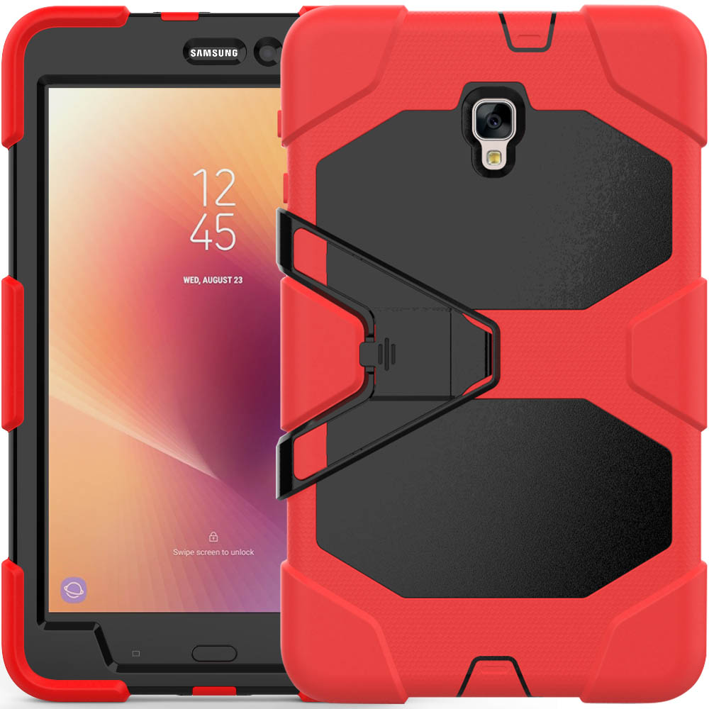 Shockproof Case For Samsung Galaxy Tab A 8.0 2017 SM-T385 T380 Coque Capa Heavy Duty Hybird PC Rubber Stand Cover Shell SM-T380 metal ring holder combo phone bag luxury shockproof case for samsung galaxy note 8