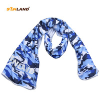 100 PC Sunland Microfiber Instant Pva Cooling Towel for Sports, Fitness, Gym Yoga,12x39inch camouflage
