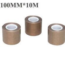 1 РУЛОНА 100 мм * 10 М Тефлоновый Скотч Ткань Привет-temp Изолировать Коррозионная Стойкость