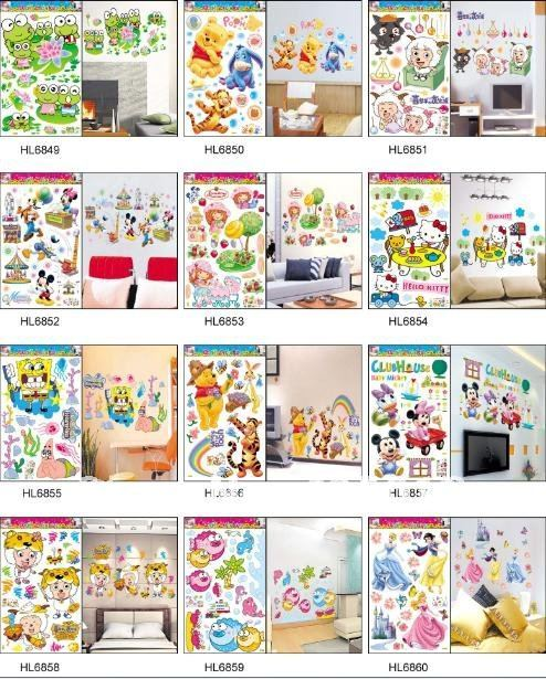 6090cm hl wall stickers 24x36 christmas sale window cling new year