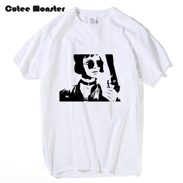 Movie LEON The Professional T shirt Men Cool Girl Matilda With ...