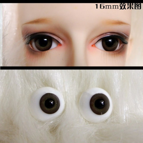 New 16mm Dark Brown Color Dollfie Glass Eyes BJD SD MSD LUTS Eyes