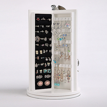 360 degree rotating wooden jewelry box Princess European collection large display case