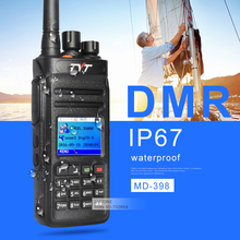 Tyt md398 digital radio dmr walkie talkie uhf 400-470 mhz 10 w walkie talkie impermeable transceptor 1000ch gps opcional 1 ranura