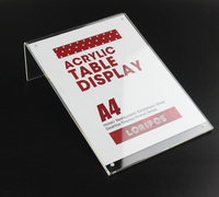 21 29 7cm A4 Upright Acrylic Magnetic Label Holder Stand Poster Banner Menu List Frame Advertising