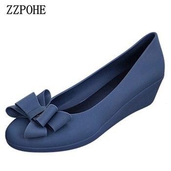 166d05e0 ZZPOHE primavera otoño nuevas mujeres moda medio talones mujer solos  zapatos de cuña mujeres Trabajo bombas zapatos envío libre