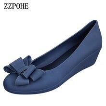 ZZPOHE spring autumn new women fashion mid heels woman wedge single shoes Women Work Pumps Shoes free shipping