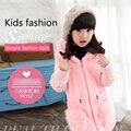 2016 meninas novas de inverno imitação de pele casaco de pele das crianças grandes camisola das crianças na seção longa de algodão grosso casaco.