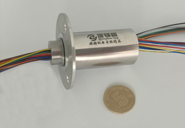 Stainless Steel Precision Slip Ring Hole Capsule Slip Rings 20mm Out Dia. 12/18/24/36 Channels 5A Large Current Mini Slipring