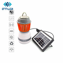 Solar Electronic Mosquito Killer with Led Lamp Portable Waterproof Multifunctional Camping Rechargeable Insect