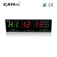[GANXIN]Modern Remote control battery powered clock led gym interval timer sport timer