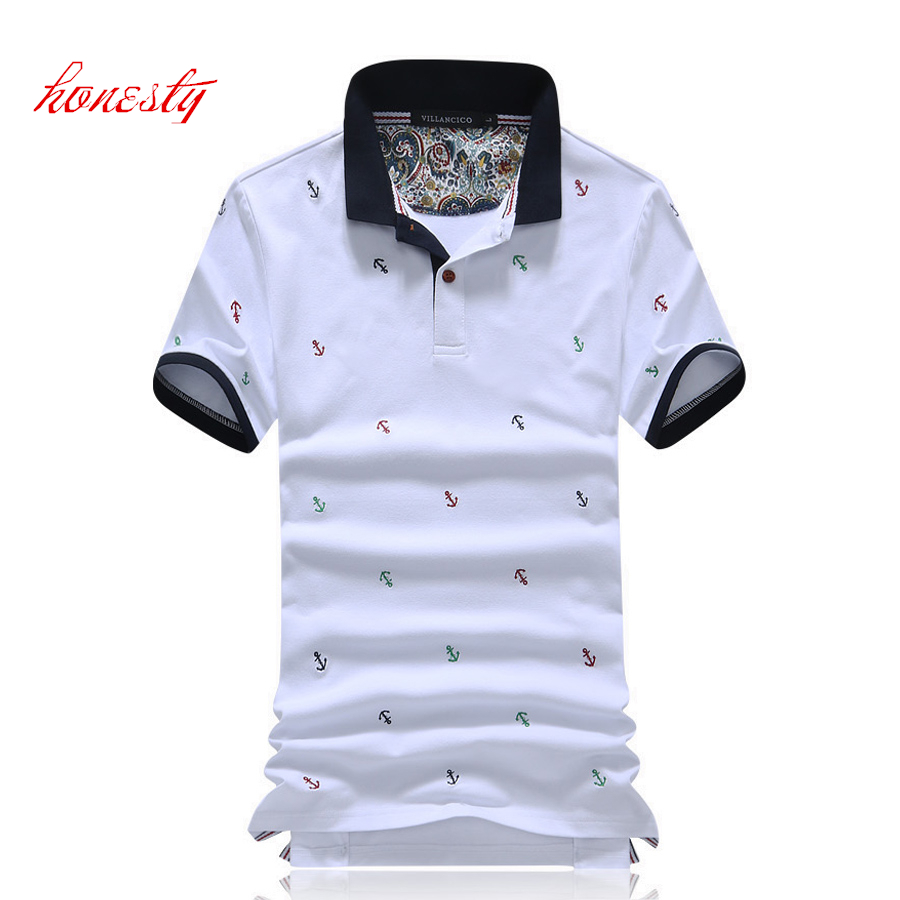Men Polo Shirts Summer Short Sleeve Casual Slim Fit Breathable Homme