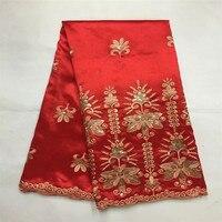 LX! tecido de renda george Africano tecido de renda com lantejoulas brilhantes vermelho bordado george tecido de renda nigeriano para a festa! J42458