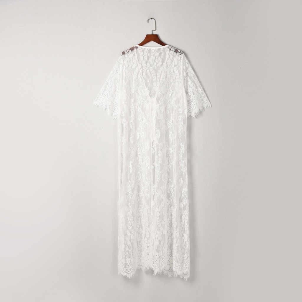 Perimedes женский модный Чехол-блузка Женский Топ для девочек кружевной костюм бикини купальники пляжный купальник coves-up Smock # y40